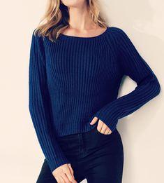 blue knitted women s sweater Winter Sweaters c0a1a2ec0