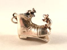 Nuvo Vintage Sterling Silver charm Mice on a boot  by undermycharm, $24.50