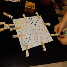 How do you keep your child busy for 5 minutes? Drawing an interactive circle.