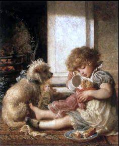 Nursery Life     Karl Wilhelm Bauerle (1831 – 1912, German)
