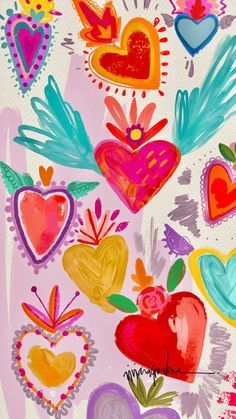 Home - Cherbear Creative Cute Wallpapers, Wallpaper Backgrounds, Wall Wallpaper, Iphone Wallpapers, Mexico Wallpaper, Pattern Illustration, Heart Illustration, Pattern Wallpaper, Art Inspo