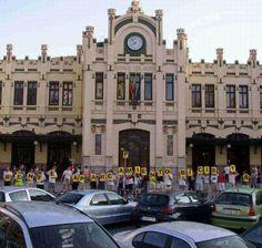 Bicifestación Esació Renfe.  Val¡encia, 20040711