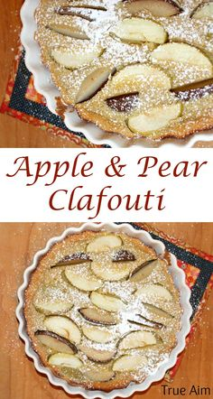 Easy Apple and Pear Clafouti Recipe - French Dessert