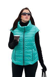 3f702291 Жилетка женская стильная большого размера р. 52-80 Зимние Куртки