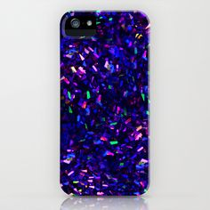 Fascination in blue- photograph of colorful lights iPhone Case by Sylvia Cook Photography - $35.00