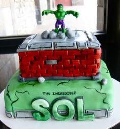 Incredible Hulk Personalized Cake!