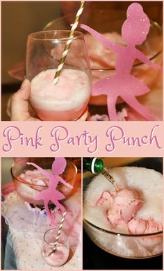 Pink Party Punch Pink Party Punch- a 2 ingredient pretty in pink drink! – Cocktails and Pretty Drinks Pink Punch Recipes, Punch Recipes For Kids, Little Girl Birthday, Pink Birthday, 25th Birthday, Ballerina Birthday Parties, Ballerina Party, Party Drinks Alcohol, Party Food And Drinks