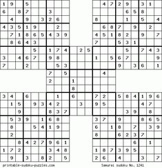 Samurai Sudoku Puzzle Book Samurai Sudoku Puzzle Book 100 Expert Puzzles for Samurai Sudoku Lovers