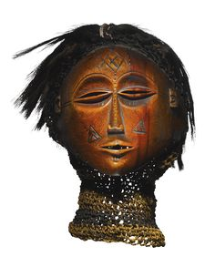 Lwena Mask, Angola or Democratic Republic of the Congo -   Height: 6 3/4 inches (17.1 cm) not including attachments