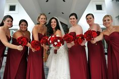 Flowers To Go With Red Bridesmaid Dresses | The Wedding Specialists