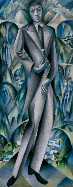 """Heinrich Davringhausen (1894-1970) Hij werd lid van de """"Novembergruppe"""" en kreeg bekendheid onder de kunstenaars die een nieuwe tendens in de Duitse kunst van de naoorlogse periode. Hij werd gevraagd deel te nemen aan de Nieuwe Zakelijkheid tentoonstelling in te nemen Mannheim waar vele vooraanstaande """"post-expressionistische 'kunstenaars, waaronder Grosz, bracht Otto Dix , Max Beckmann , Alexander Kanoldt en Georg Schrimpf ."""