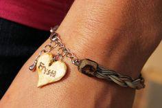 Einzigartige Rosshaar-Armband  personalisierte von thatfamilyshop
