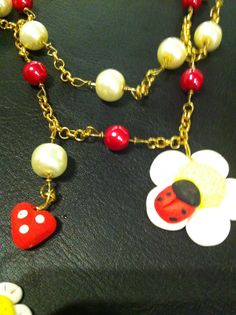 Necklace with Fimo charms Handmade by My Fairy Cakes