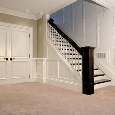29 ideas basement stairs diy staircase remodel moldings for 2019 Open Basement Stairs, Open Stairs, Basement Apartment, Basement Bedrooms, Basement Flooring, Basement Walls, Basement Bathroom, Basement Waterproofing, Small Bathroom