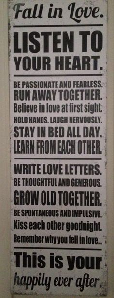 Must dos, for a healthy relationship :)