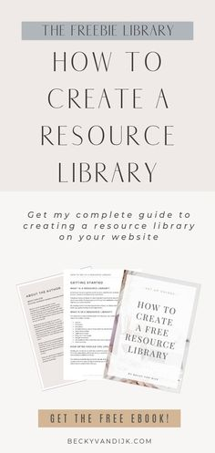 Creating a freebie library or a free resources area on your website is a great way to grow your email list, get visitors to your website and turn your readers into subscribers.   In this free ebook guide I show you step by step how to create a resource library, set up the password protected area on your website and provide the all important password to subscribers!   This free set-up guide gives you everything you need to know to create a freebie library today!