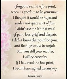So very true. Forever 27. Missing my son so very much.