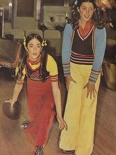 """justseventeen:  """"August 1973. 'What else do you do with all that after school spirit? You round up the kids, hit the lanes and flex those muscles.'  """""""