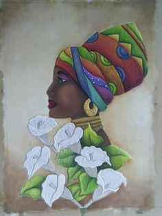 History of Black Self-Hatred in the styling of Black Hair during & after Slavery in the Black African American History video documentary: The Inferiority Seed African American Art, African Women, Afrique Art, Family Tree Art, African Paintings, African Theme, Art Africain, Black Women Art, African Design