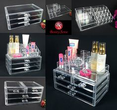 Clear makeup drawers/storage