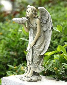 Find the perfect statues & sculpture for your garden or outdoor patio on Wayfair. Browse through a large selection of beautiful statues & sculptures! Cemetery Angels, Cemetery Art, Angels Garden, Statue Ange, I Believe In Angels, Ange Demon, Angels Among Us, Angels In Heaven, Heavenly Angels