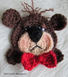 Bear Applique Crochet Pattern pattern on Craftsy.com
