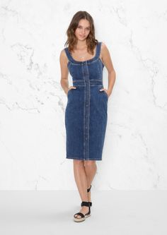 Fitted denim dress, & Other stories
