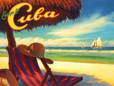 Kerne Erickson 'Escape to Cuba' Poster.