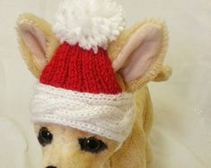 Pet Clothes Apparel Winter Outfit Knit Dog Hat for by 2CROWNS