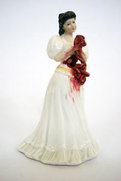 Artist Adds Blood and Gore to Kitsch Ceramic Figurines - DesignTAXI.com