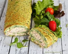 Spinach and Tuna Roulade - my crust was a little thin and it could use a crunch otherwise awesome!