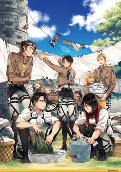 Shingeki-no-Kyojin-anime-sasha-browse-ervin smith- zoe hanji-eren jaeger-connie springer-levi - mikasa