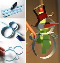 65 идей новогодних игрушек из бумаги своими руками: создаем праздник в доме http://happymodern.ru/novogodnie-igrushki-iz-bumagi-svoimi-rukami/ Красивый снеговик своими руками