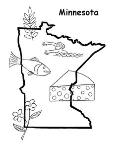 free printable state of minnesota coloring pages showing state history demographics and points of interest minnesota tradition and culture coloring pages