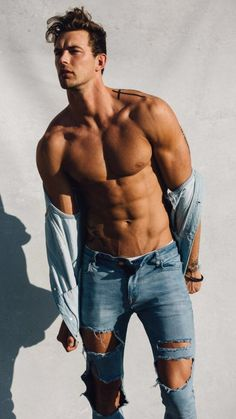 Male model Christian Hogue who is signed with Soul Artist Management poses in an editorial shoot captured by fashion photographer Taylor Miller. Hot Men, Taylor Miller, Fitness Bodybuilding, Superenge Jeans, Le Male, Hommes Sexy, Shirtless Men, Attractive Men, Male Beauty