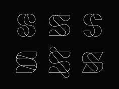 S letter exploration branding vector monoline abstract line typography design lettermark elegant brand logo symbol mark monogram s S Logo Design, Design 3d, Symbol Design, Lettering Design, Branding Design, Corporate Branding, Graphic Design, Type Design, Logo Branding