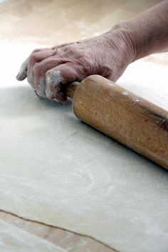 .ROLLING THE BEST EVER PIE CRUST!!! Sure makes me miss my Mother....