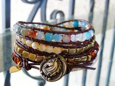 Southern Charm D'Marie Gemstone Wrap Bracelet by Tesoribydmarie, $120.00