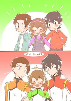 Can you draw Keith and Pidge if they had known each other as children? (and Griffin aside if you can 😂 👉👈, your art si precious!) Thank you for the request! I am glad if you like it. Voltron Memes, Voltron Comics, Voltron Fanart, Voltron Ships, Voltron Klance, Shiro, James Griffin, Anime Friendship, Nostalgia