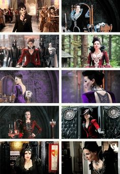 Evil Queen Wardrobe, always fun collages. She does make evil look just so damn cool!
