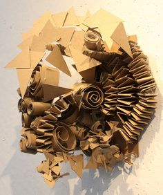 Clara Lieu, RISD Project Open Door, Chipboard Sculpture Assignment based on… Sculpture Lessons, Sculpture Projects, Art Projects, Cardboard Sculpture, Cardboard Art, Paper Sculptures, High School Art, Middle School Art, Abstract Sculpture