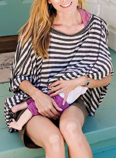 THIS is the kind of nursing cover I want! | Oslo DRIA Nursing Cover (soft jersey style fabric, grey and black stripes):Amazon:Baby