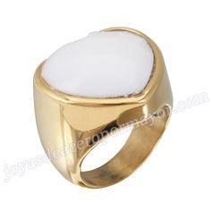 Material: Acero Inoxidable   Nombre:Anillos de Compromiso de Acero 316l de Forma Lagrima con Piedra Blanca   Model No.:SSRG019   Peso:14.4G