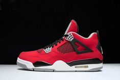 9c4d9dca03f5 Shop Air Jordan 4 Retro Toro Bravo Fire Red White-Black-Cement Grey 308497