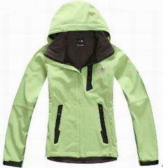 Discount Sale North Face Windstopper Jacket Green For Women