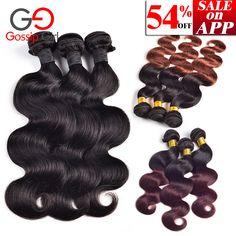 On Sale Now: $45.00 - #BUY & #SELL #Shopping & #win #coupon Buy Now =>http://www.xfoor.com/shopping/brazilian-virgin-hair-body-wave-6-28-mink-brazilian-body-wave-3-bundles-ombre-brazilian-hair-weave-bundles-remy-human-hair/