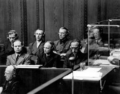 Nuremberg, Germany, a photograph of one of the Nuremberg trials.
