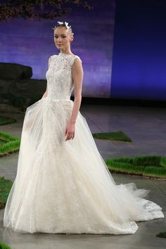 Ines Di Santo - Spring summer 2016 bridal shows in New York | Best wedding dresses from Marchesa, Oscar de la Renta, Carolina Herrera | Harper's Bazaar
