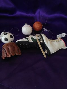 Dept 56 Sporting Goods Ornaments Set of Six by VisualaromasVintage
