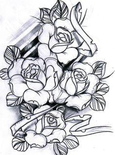(2) rose tattoo design | Tumblr